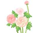 Cute flower stickers(English)