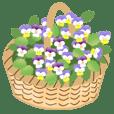大人可愛いお花のスタンプ(日本語)
