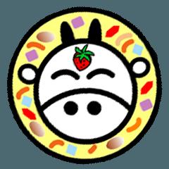 奶油湯頭的草莓牛