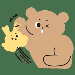 クッキーベアとバターラビット