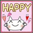 Convenient!Cute cat sticker!6