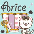 大人のためのねこと背景が動くアリスの世界