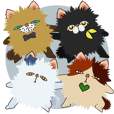 Popup! Friendry cats - Ugly cute