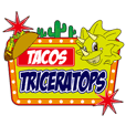 """Taco shop """"TRICERATOPS"""" Mr.TORY stickers"""