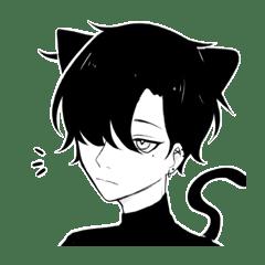無口の黒猫男子