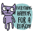 Happy Purple Cat in April