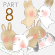 rabbit stickers mimi8