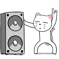 White Weird Cat (Animated)