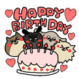 Cute dogs cute birthday sticker