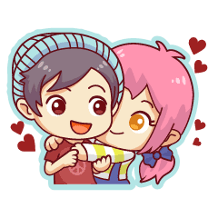 Chibi Couple Line Stickers Line Store