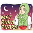 Gorgeous Hijab Girl Ramadhan - Animated