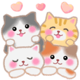 Four plump cats 10