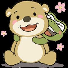 小棕熊布布和科莫多龍綠豆椪碰9╴日常用語