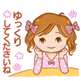 A lovely girl sticker part 4