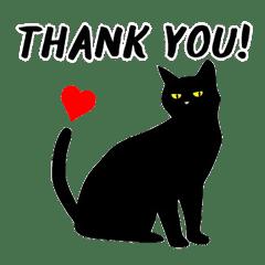 黒猫目線 イラスト編 Vol1 Line スタンプ Line Store