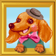 Pop-up stickers of Pets(Dachshund)