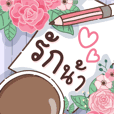 Rose Valentine Card : Big Sticker