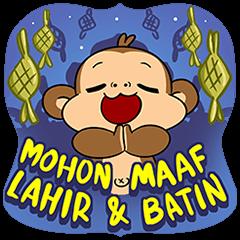 [BIG] What The Monkey: Ramadan Stickers