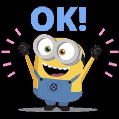 สติ๊กเกอร์ไลน์ Minions: Cute Animated Stickers