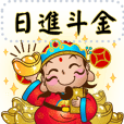 Lucky god of wealth-Message Post-Chinese