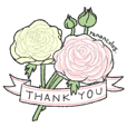 Thank you stickers - flowers ver.