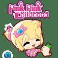 粉色的童年Q彈動畫貼圖(日常篇1)
