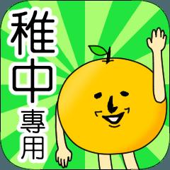 【稚中】專用 名字貼圖 橘子
