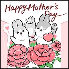 [BIG] Machiko Rabbit Thankful Stickers