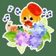 紫陽花と可愛い小人 2