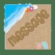 砂に描いたメッセージ・・・。