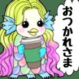 Gorgeous long hair Amabie Animation 2
