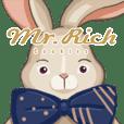 Mr. Rich魔術兔超Q萌魔法貼圖