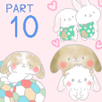 rabbit stickers mimi10