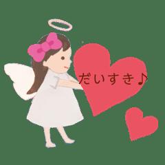 天使のお絵かきスタンプ