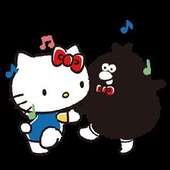 สติ๊กเกอร์ไลน์ Hello Kitty Meets Ology on the Move