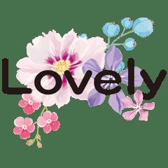 美麗的花朵-問候語