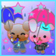 うさぎとくまの日々(梅雨)