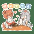 Luum eats meat Sticker