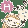 feminine happy
