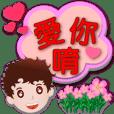 Cute boy-Speech balloons