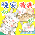 good night sticker <rabbit> Taiwan
