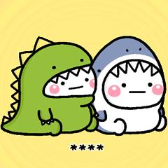 白圓君♡鯊魚and恐龍 隨你填貼圖