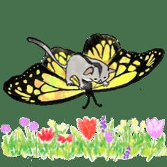 Spring sticker-Sugar glider.Geo