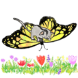 Spring sticker-Sugar glider.Geo