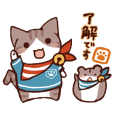 Cat and Hamster's cute sticker I