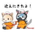 Fireman's cat Sticker
