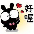 Cute black rabbit sticker