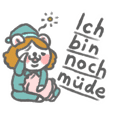 German (Deutsch) bear Sticker
