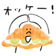 Sticker of bread friends