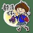 Daily behavior pattern of school girl